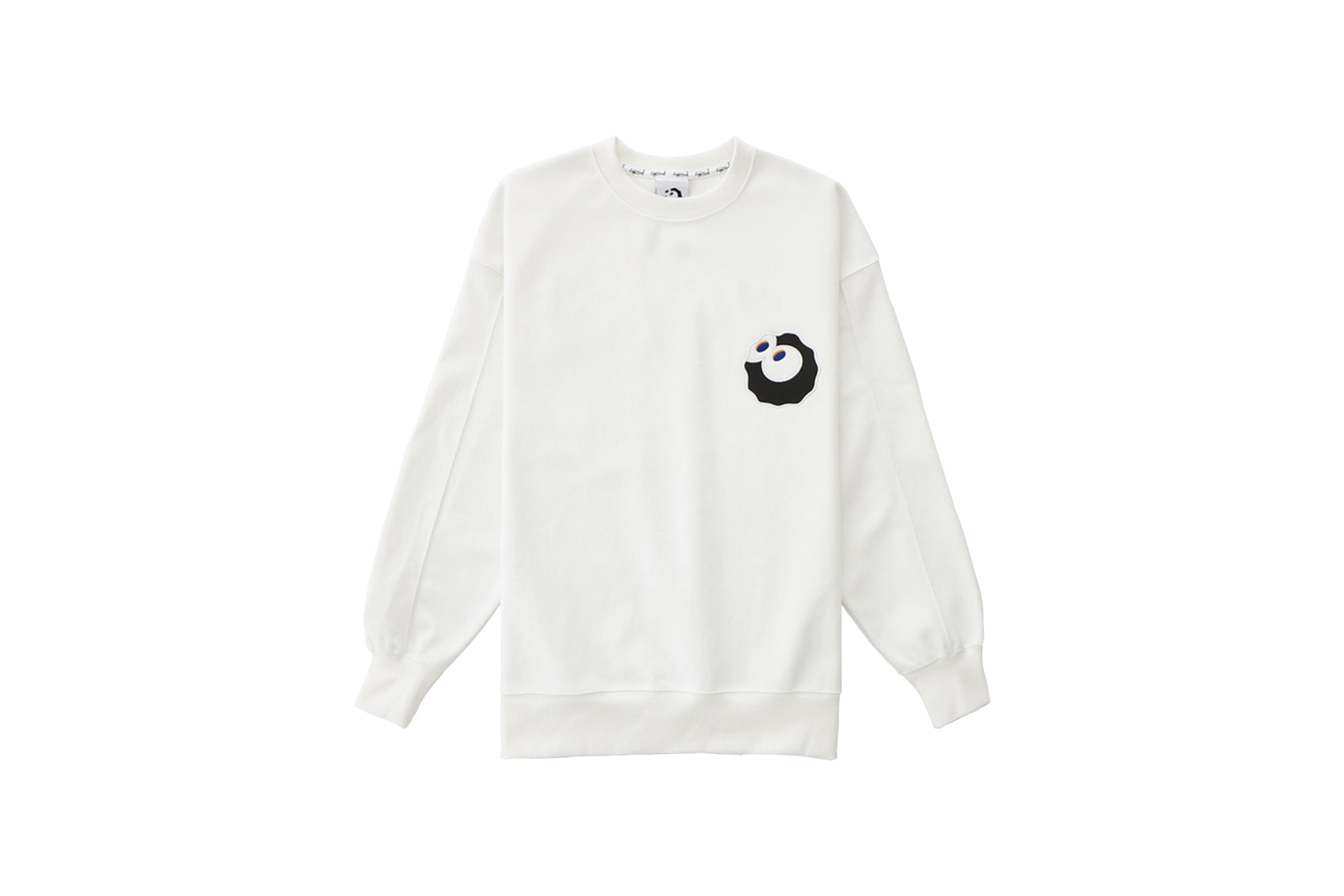 Ball Logo Patch Sweatshirt White